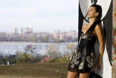 Urban classy girl Stock Photography
