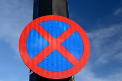 Urban clearway sign. Stock Images