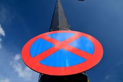 Urban clearway sign. Stock Photo