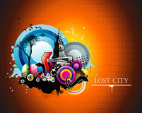 Urban color illustration Stock Photography