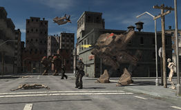 Free Urban Combat Patrol - Zombie Central Stock Photography - 9229882