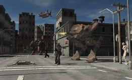 Urban Combat Patrol - Zombie Central Stock Photography