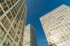 Urban commercial building blue sky Royalty Free Stock Image