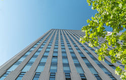 Urban commercial building blue sky Royalty Free Stock Photo
