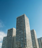 Urban commercial building blue sky Royalty Free Stock Photography