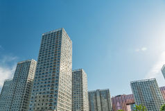 Urban commercial building blue sky Stock Image