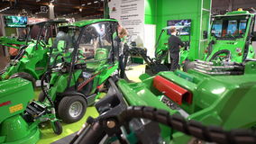 Urban compact equipment for construction and cleanup activities stock video