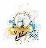 Urban compass design. Tshirt illustration vector illustration