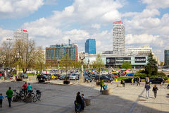 The urban complex of buildings in Warsaw Royalty Free Stock Photo