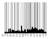 Urban concept with barcode Stock Image