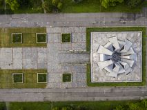 Urban concrete symmetry Royalty Free Stock Images