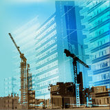 Urban Construction Background Stock Photos