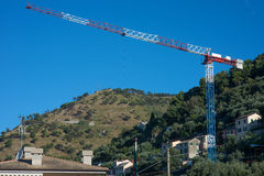 Urban construction crane Royalty Free Stock Photography