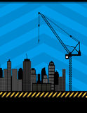 Urban construction illustration Stock Images