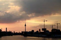 Urban construction silhouette Royalty Free Stock Photos