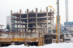 Urban construction site Stock Images