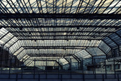 Urban construction under a glass roof Royalty Free Stock Photos