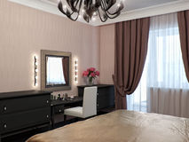 Urban Contemporary Classic Modern Bedroom Interior Design Royalty Free Stock Image