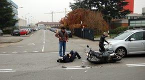 Urban crash Stock Images