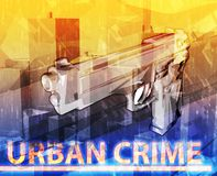 Urban crime Abstract concept digital illustration Stock Image