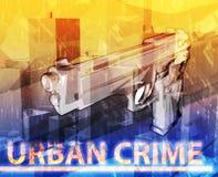 Urban crime Abstract concept digital illustration Stock Image