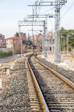 Urban crossing railroad in Casal Stock Photography