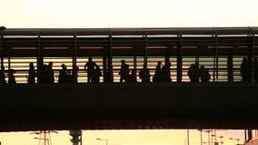 Urban Crowd stock video footage