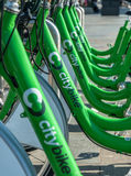 Urban Cycle Hire Royalty Free Stock Photo
