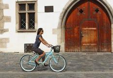Urban cycling royalty free stock image