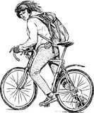 Urban cyclist Stock Images