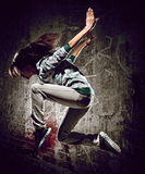 Urban dance royalty free stock image
