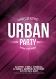 Urban Dance Party Poster Background Template - Vector Illustration Royalty Free Stock Images