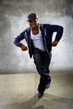 Urban Dancer on a Concrete Background Stock Image