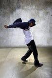 Urban Dancer on a Concrete Background Stock Photos