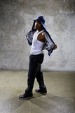 Urban Dancer on a Concrete Background Royalty Free Stock Photos