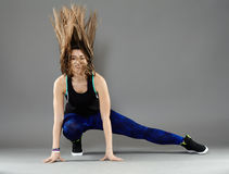 Urban dancer doing moves Royalty Free Stock Images