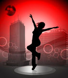 Urban dancer idol star Royalty Free Stock Photography