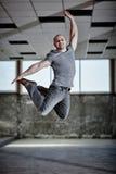 Urban dancer jumping royalty free stock photo