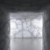 Urban dark architecture. Concrete walls room interior Stock Photography