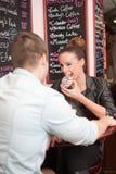 Urban dating fun. Royalty Free Stock Photography