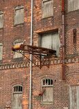 Urban decay. Decayed storehouse in Wismar Harbour/Germany Royalty Free Stock Photo