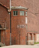 Urban decay. Decayed storehouse in Wismar Harbour/Germany Stock Image
