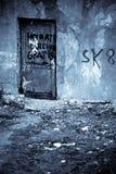 Urban decay. Building with door Stock Images