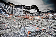 Urban Decay. Old industrial site in sweden after a fire royalty free stock photography
