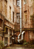 Urban decay. Made with tilt-shift lens, selective focus Stock Photography