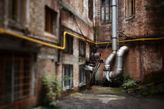 Urban decay. Made with tilt-shift lens, selective focus Stock Image