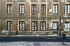 Urban Decay. Abondoned building in an impoverished area Royalty Free Stock Photo