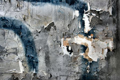 Urban decay. A poster torn off the wall in Vienna (Austria Stock Photography