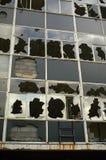 Urban Decay. Vandalised office building in Bristol UK Royalty Free Stock Photos