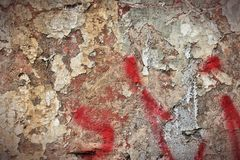 Urban decay background. Grunge concrete wall background - urban decay texture with peeling paint Stock Image